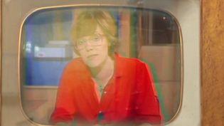 La journaliste Marie-Laure Augry, durant les années ORTF. (FRANCE 2)