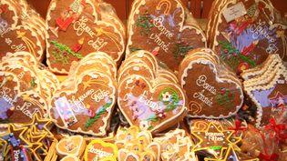 Du pain d'épices, produit incontournable du marché de Noël de Strasbourg (Bas-Rhin). (J-M EMPORTES / ONLY FRANCE)