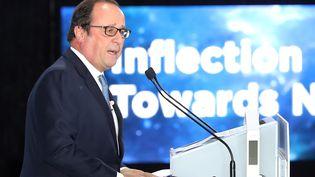 Francois Hollande à Séoul, le 17 octobre 2017. (HANDOUT / MAEIL BUSINESS NEWSPAPER)