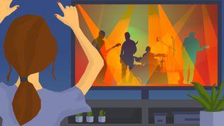 Les concerts en streaming payantsur internet ont rencontré un certain succès. (STEPHANIE BERLU / RADIO FRANCE)