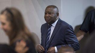 L'ancien président ivoirien, Laurent Gbagbo, le 15 janvier 2019 à La Haye (Pays-Bas). (PETER DEJONG / AP / SIPA)