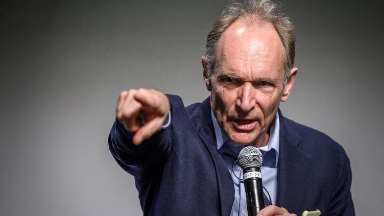 Le physicien et informaticien Tim Berners-Lee, inventeur du World Wide Web. (FABRICE COFFRINI / AFP)