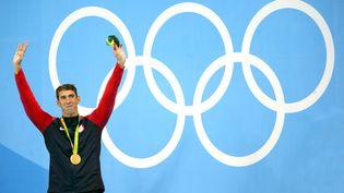 Le nageur Michael Phelps remporte la finale du 200 m papillon aux Jeux de Rio (Brésil), mardi 9 août. (JORGE ARCIGA AVILA / NOTIMEX)