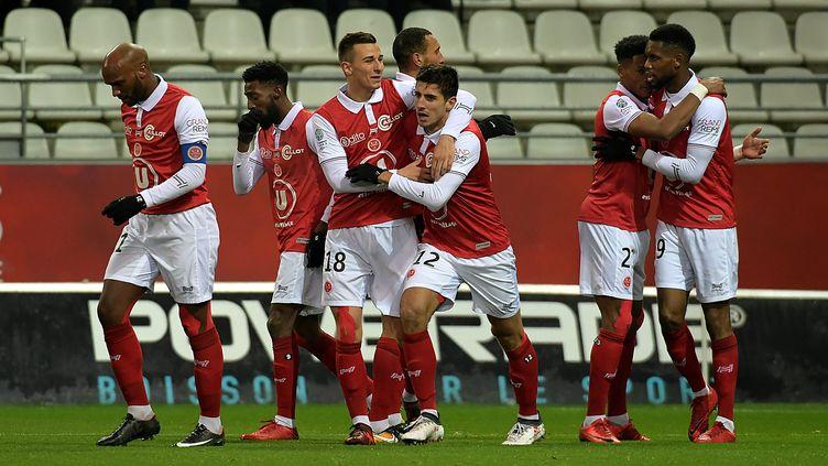 Reims a validé sa montée en Ligue 1 (CHRISTIAN LANTENOIS L'UNION/L'ARDENNAIS / MAXPPP)