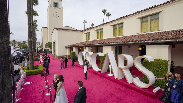 La cérémonie des Oscars à l'Union Station de Los Angeles, le 25 avril 2021. (SIPA/ GETTY IMAGES NORTH AMERICA)