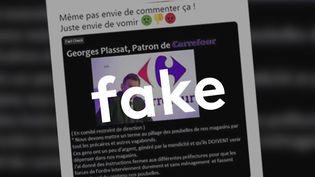 Non, Carrefour n'a pas exigé la fin du vol de nourriture périmée dans ses poubelles. (CAPTURE ECRAN / FACEBOOK)