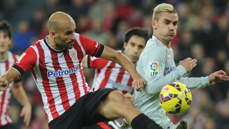 Antoine Griezmann a inscrit son premier triplé avec l'Atletico Madrid. (RAFA RIVAS / AFP)