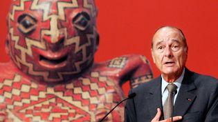 Jacques Chirac en juin 2006 lors de l'inauguration du musée du Quai Branly.  (Francois Mori  / AFP)
