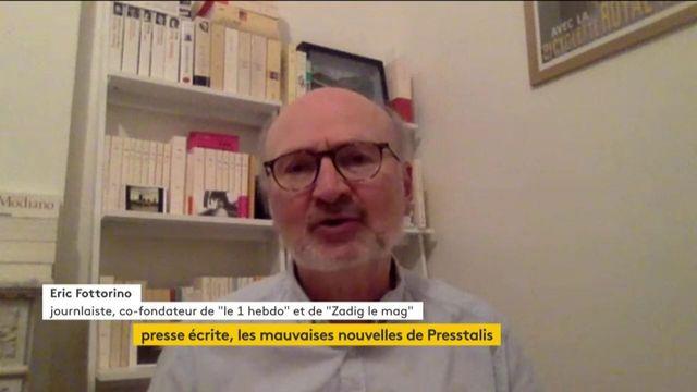 """Difficultés de Presstalis : """"Un danger de disparition"""" pour les titres indépendants, s'alarme Eric Fottorino, co-fondateur de l'hebdomadaire """"Le 1"""""""
