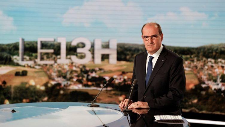 Le Premier ministre, Jean Castex, au journal de 13 heures de TF1, le 21 juillet 2021. (LUDOVIC MARIN / AFP)