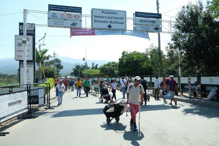 La ville de Cucuta en Colombie à la frontière avec le Vénézuéla d'où fuient des millions de vénézueliens. (NATHANAEL CHARBONNIER / RADIO FRANCE)