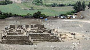 Photo non datée, publiée sans plus de détail en février 2013, du site archéologique El Paraiso, à 40 km au nord-est de Lima.  (Ho / Ministerio de Cultura / AFP)