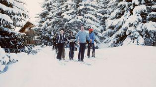 L'ancien président de la République Valéry Giscard d'Estaing en vacances à Courchevel (Savoie), le 16 février 1976. (AFP)