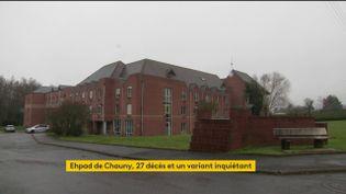 À Chauny, dans l'Aisne, une chasse à un variant du coronavirus rare en Europe a été lancée. Ce variant serait à l'origine d'un cluster meurtrier dans un Ehpad. (FRANCEINFO)