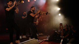 La direction artisitique du concert a été confiée au trompettiste franco-libanais Ibrahim Maalouf. (VALERY HACHE / AFP)