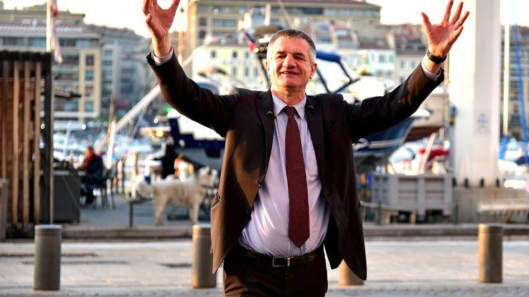 Jean Lassalle, candidat à l'élection présidentielle, le 12 avril 2017 à Marseille (Bouches-du-Rhône). (GEORGES ROBERT / CITIZENSIDE / AFP)