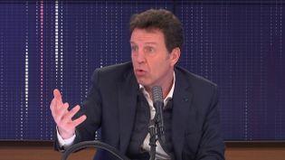 """Geoffroy Roux de Bézieux, président du Medef était l'invité du """"8h30 franceinfo"""", mercredi 6 janvier 2021.  (FRANCEINFO / RADIO FRANCE)"""