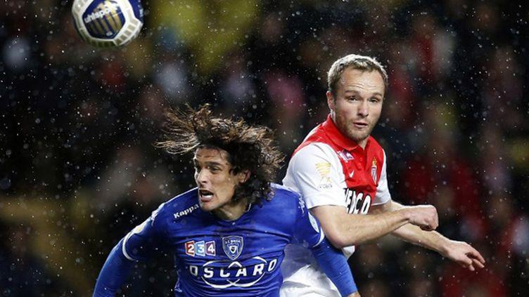 Monaco et Bastia se sont battus jusqu'au bout en Coupe de la Ligue (VALERY HACHE / AFP)