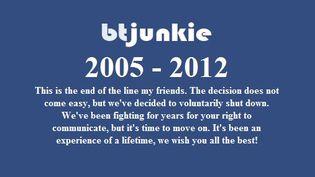 La page d'accueil du site BTJunkie, le 6 février 2012. (FTVi)