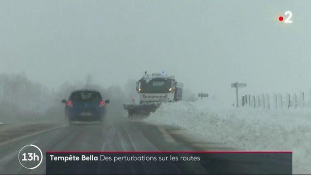 Tempête Bella : de fortes chutes de neige et des perturbations sur les routes