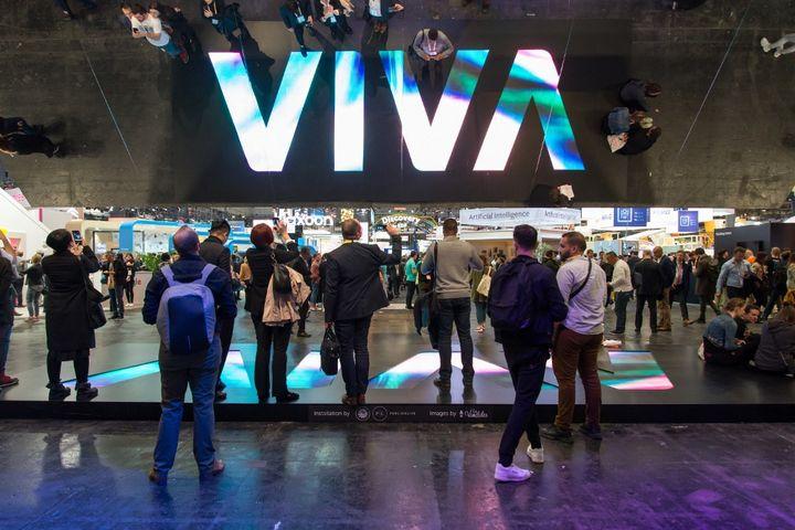 Le salon Viva Tech, dédié aux innovations technologiques et aux start-up, le 26 mai 2019 à Paris. (RICCARDO MILANI / HANS LUCAS)