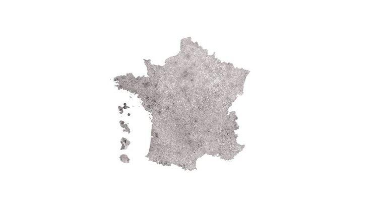 La carte du vote Macron à l'issue du premier tour de l'lélection présidentielle, dimanche 23 avril 2017 (FRANCEINFO)