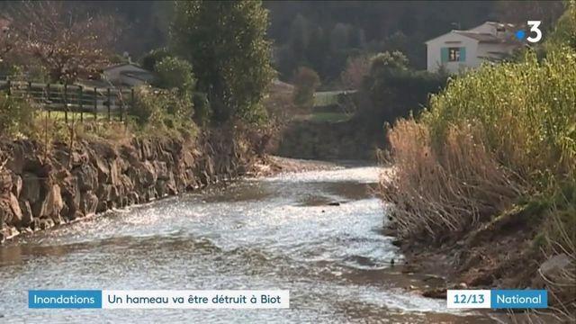 Alpes-Maritimes : un hameau de Biot rasé, trois ans après les inondations de 2015