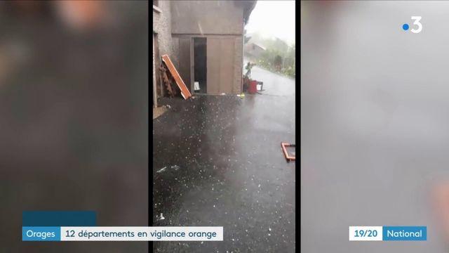 Orages : 12 départements placés en vigilance orange