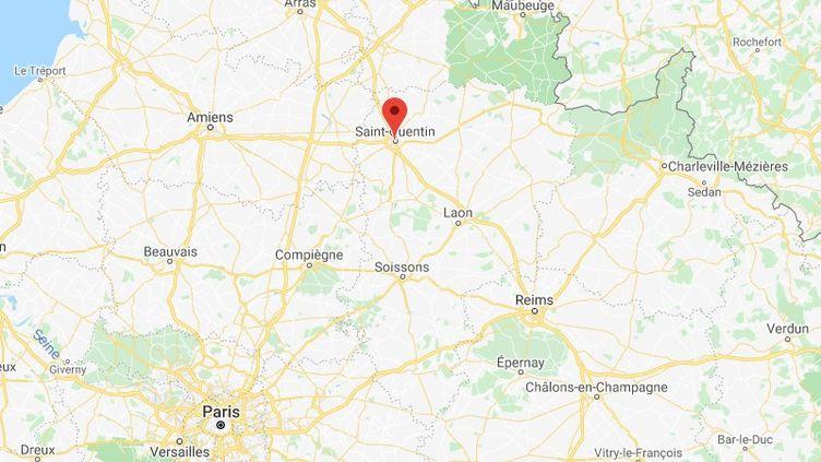 Saint-Quentin dans l'Aisne. (GOOGLE MAPS)