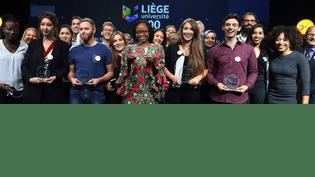 La lauréate Yasmine Agbahoungbata. (DR/Capture d'écran Facebook Université de Liège)