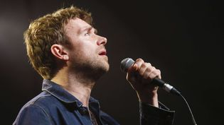 Damon Albarn sur la scène du SXSW Music Festival d'Austin(Texas) le 14 mars 2014  (Jack Plunkett/AP/SIPA)