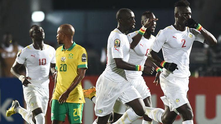 La joie des joueurs sénégalais après leur égalisation