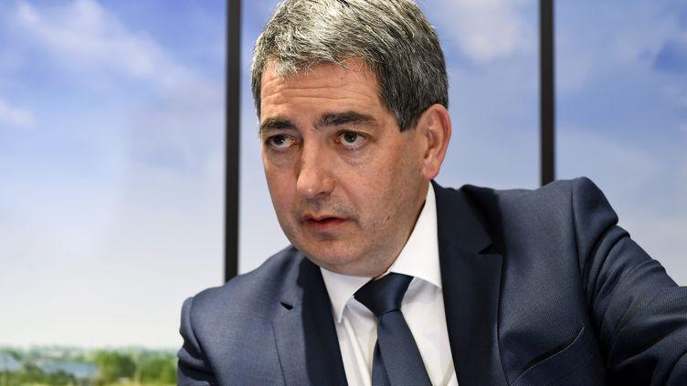 Jean Rottner, médecin urgentiste à l'hôpital de Mulhouse et président de la région Grand Est, le 24 février 2020 à Nancy. (CEDRIC JACQUOT / MAXPPP)