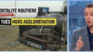 Le gouvernement vient de lancer une nouvelle campagne vidéo pour la sécurité routière. L'accent est mis sur les routes du quotidien. (FRANCE 2)