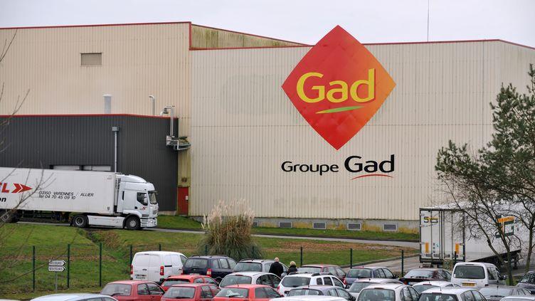 L'abattoir Gad de Josselin (Morbihan), en février 2013. (FRANK PERRY / AFP)