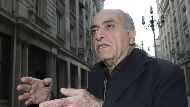 L'homme d'affaires franco-libanaisZiad Takieddine le 15 novembre 2016 à Paris. (JACQUES DEMARTHON / AFP)