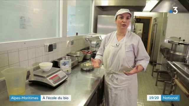 Alpes-Maritimes : le succès d'une cantine scolaire 100% bio
