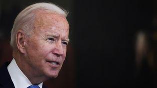Le président des Etats-Unis, Joe Biden, le 23 août 2021 à Washington. (DREW ANGERER / AFP)