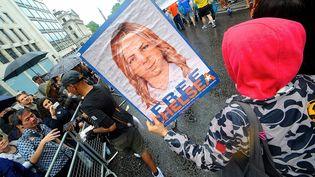 Manifestation de soutien à Chelsea Manning, lors de la Gay Pride à Londres, le 28 juin 2014. (GAIL ORENSTEIN / NURPHOTO)