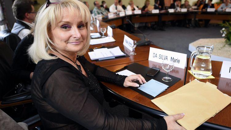 L'ex-adjointe du maire de Hayange (Moselle), Marie Da Silva, lors du conseil municipal, le 3 septembre 2014. (MAXPPP)
