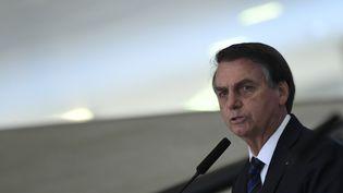 Le président du Brésil, Jair Bolsonaro, le 4 juillet 2019. (MATEUS BONOMI / AGIF / AFP)
