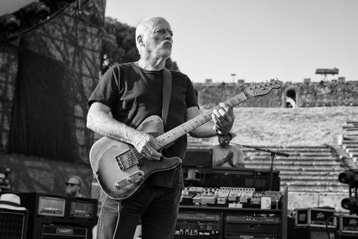 David Gilmour avec son Esquire de 1955, pendant les réglages le 8 juillet 2016  (Anna Wloch)