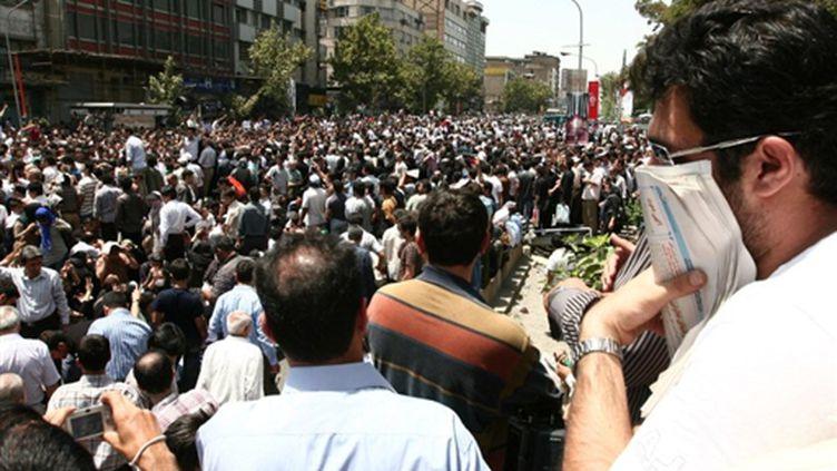 Manifestation de l'opposition à Téhéran le 17 juillet 2009 (©  AFP PHOTO - POYA PORHEDARI)
