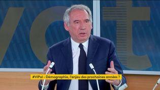 """François Bayrou était l'invité de """"Votre instant politique"""" sur franceinfo, le 19 mai 2021. (FRANCEINFO)"""