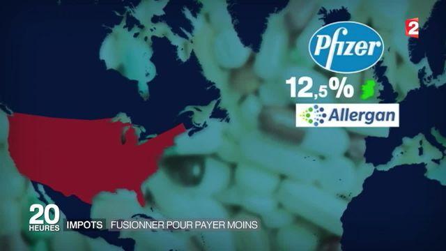 Impôts : Pfizer et Allergan se marient pour économiser 1,3 milliard d'euros par an