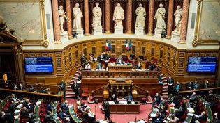 Le Sénat lors d'une séance de questions au gouvernement, le 3 mars 2021. (XOSE BOUZAS / HANS LUCAS / AFP)