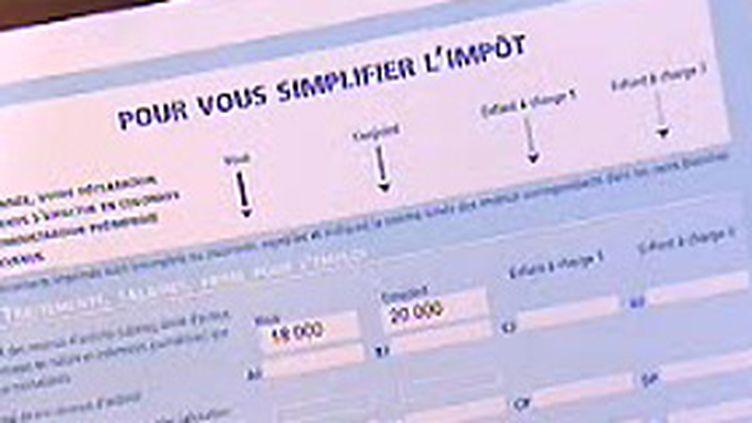 La déclaration de revenus pré-remplie (© France 2 (1-2-2006))
