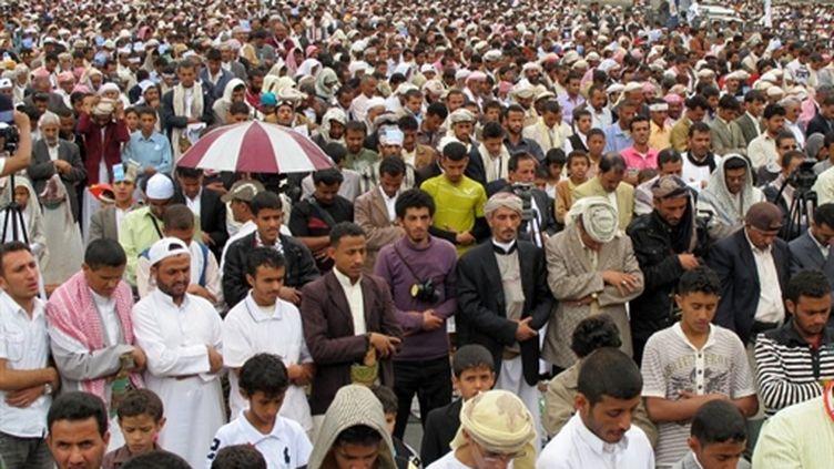 Manifestants anti-gouvernementaux à Sanaa, le 6 mai 2011 (AFP/GAMOL NOMAN)