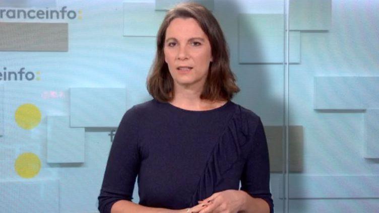 Marie Gervais témoigne desviolences conjugales qu'elle a subies de ses 16 ans à ses 24 ans. (FRANCEINFO / RADIOFRANCE)