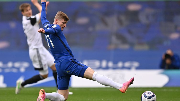 Timo Werner peine à conclure ses actions avec Chelsea (JUSTIN SETTERFIELD / AFP)